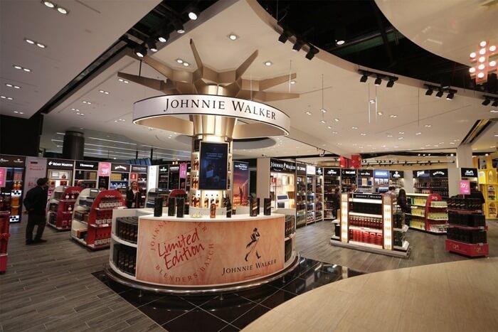 Fiumicino airport duty free shops