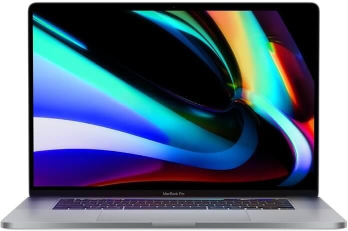 MacBook Pro 16, Retina kijelző és érintősáv, 2019